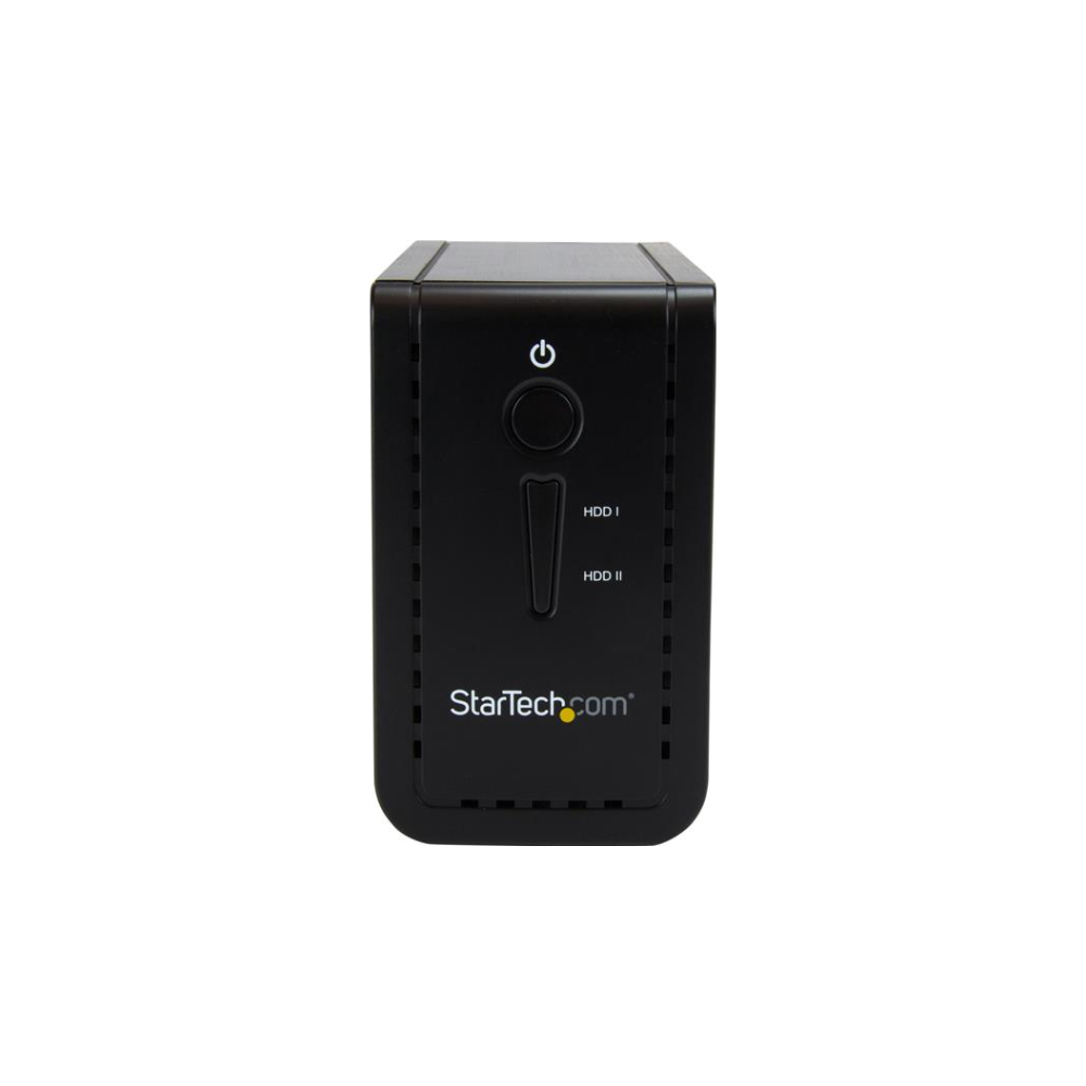 """A large main feature product image of Startech USB 3.1 Dual 3.5"""" SATA HDD Enclosure with RAID - USB-C/USB-A"""