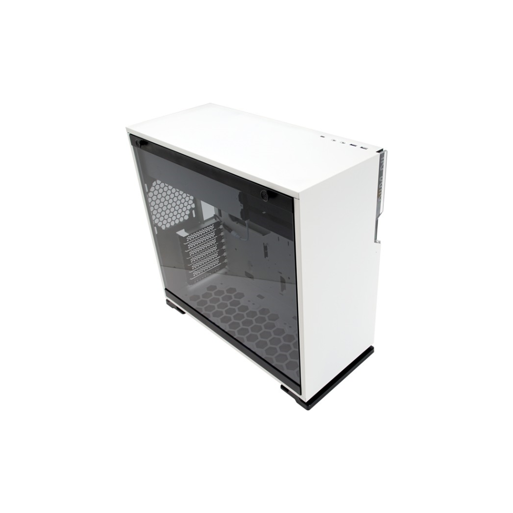 A large main feature product image of InWin 101C White Mid Tower ATX Case w/Tempered Glass Side Panel