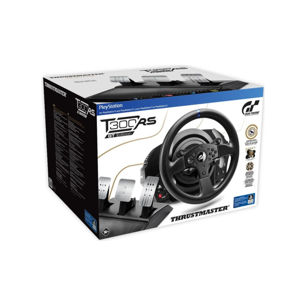 A large main feature product image of Thrustmaster T300 RS GT Edition Force Feedback Racing Wheel For PC, PS3 & PS4