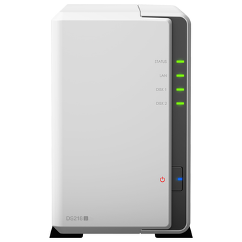 Product image of Synology DS218J Dual Core 1.3 GHz 2 Bay NAS Enclosure - Click for product page of Synology DS218J Dual Core 1.3 GHz 2 Bay NAS Enclosure