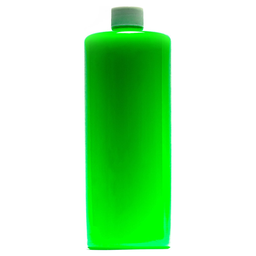 A large main feature product image of PrimoChill Vue Premix Coolant - UV Green SX