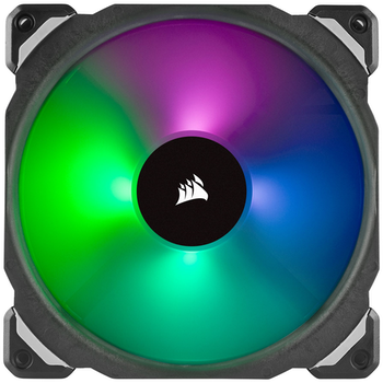 Product image of Corsair ML140 Pro 140mm Mag-Lev RGB PWM Cooling Fan Twin Pack w/Lighting Node Pro - Click for product page of Corsair ML140 Pro 140mm Mag-Lev RGB PWM Cooling Fan Twin Pack w/Lighting Node Pro