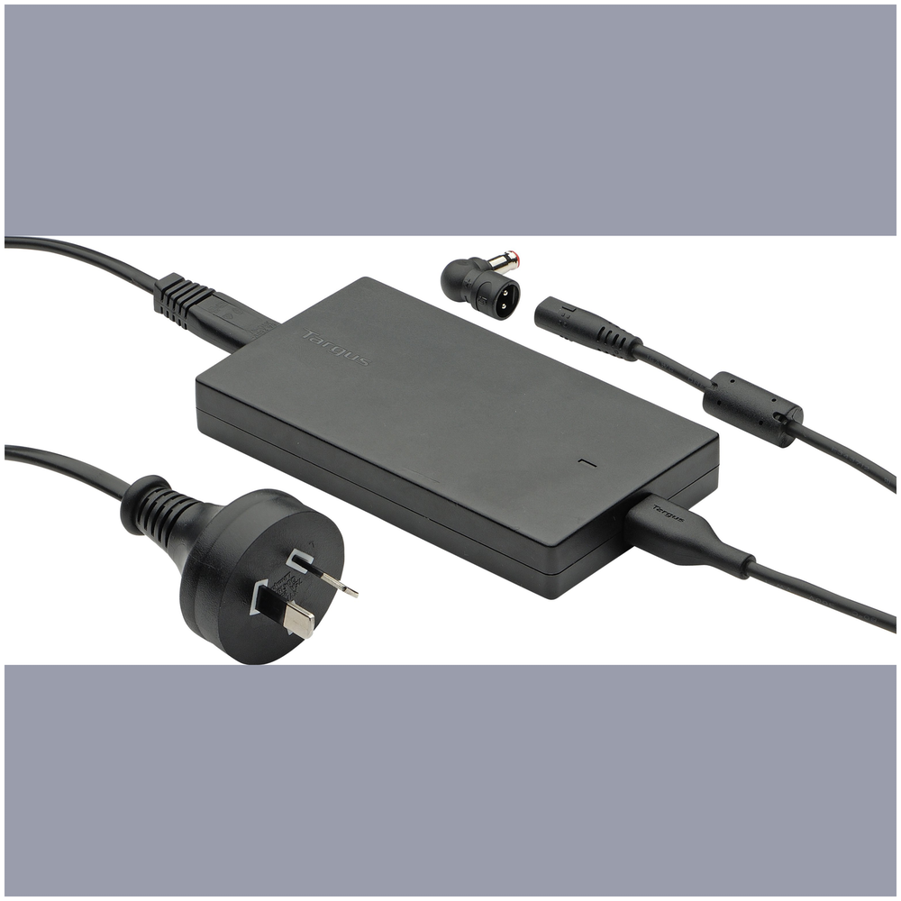 A large main feature product image of Targus 90W Universal Notebook Charger with USB