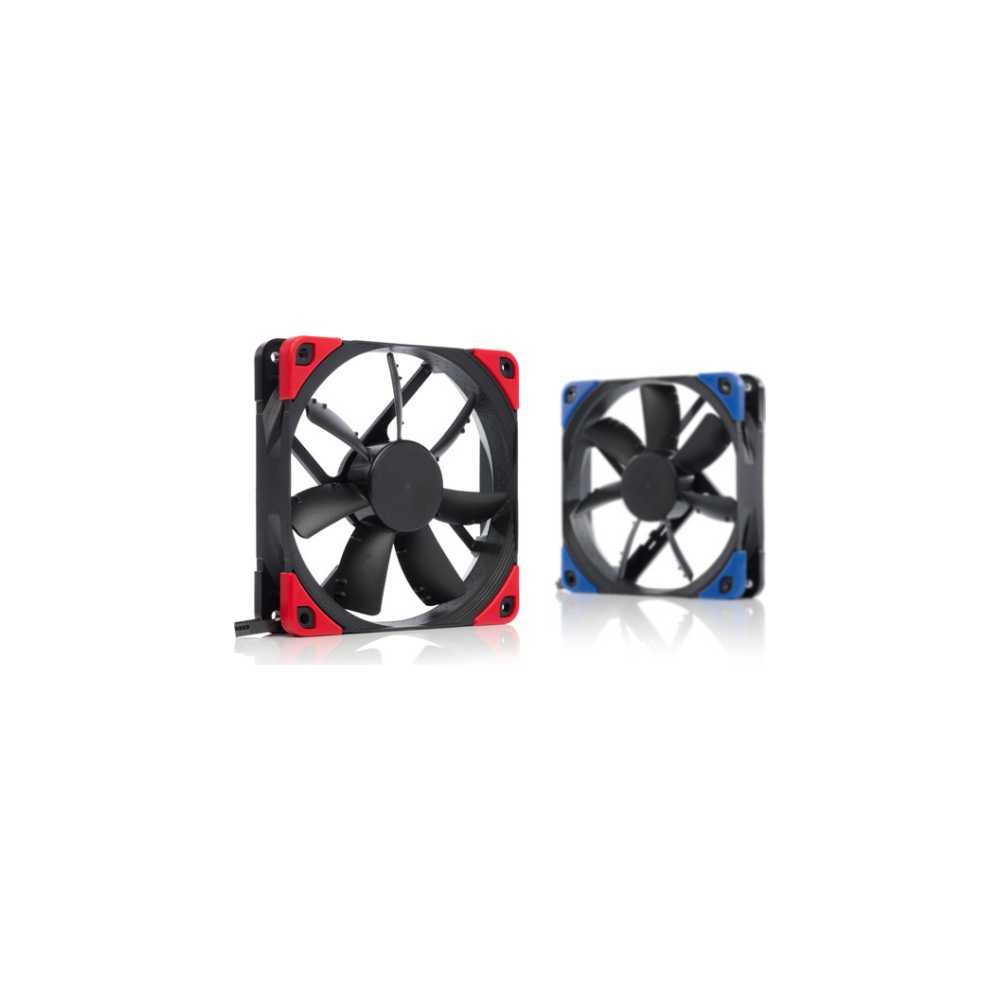 A large main feature product image of Noctua NF-S12A PWM Chromax.Black.Swap 120mm 1200RPM Cooling Fan