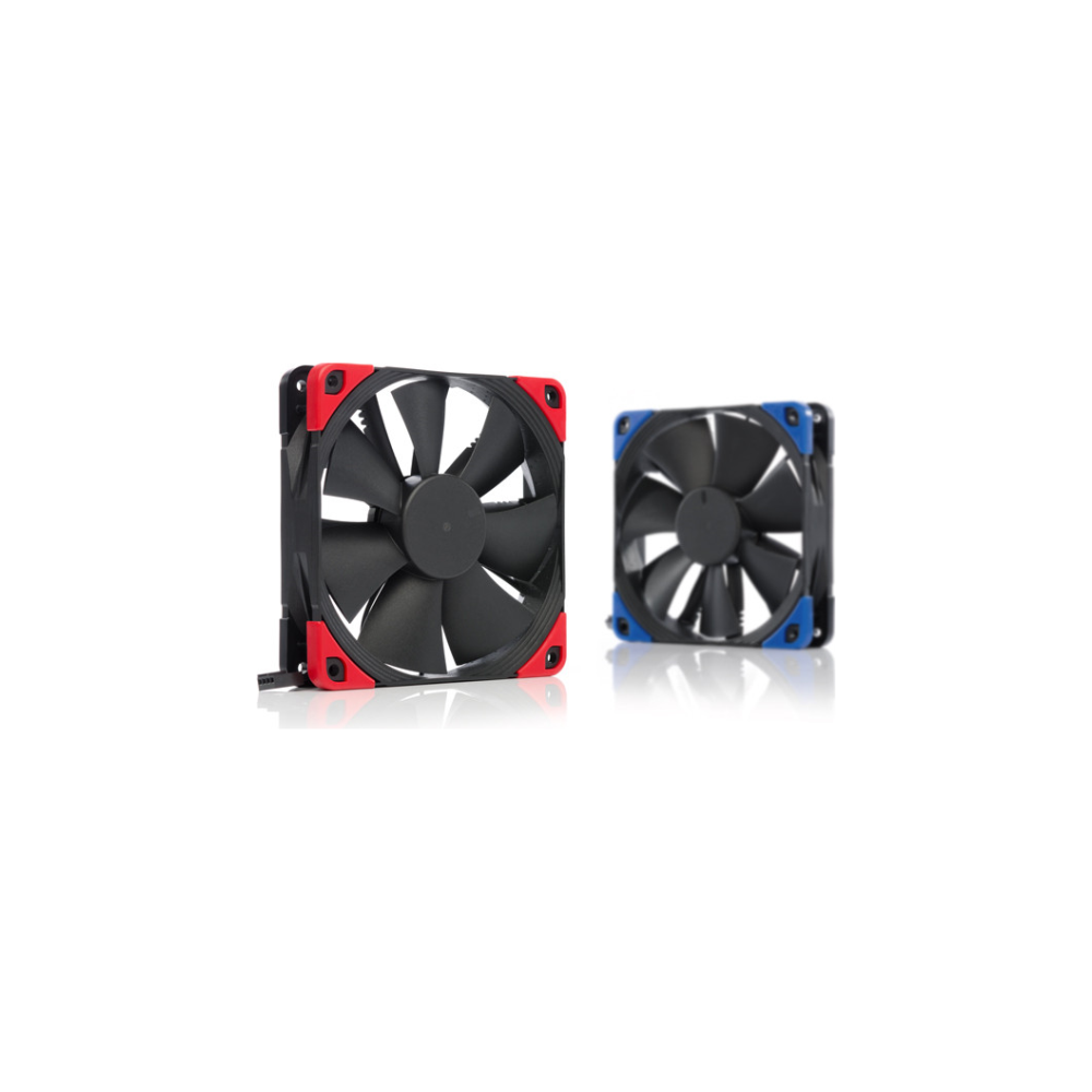 A large main feature product image of Noctua NF-F12 PWM Chromax.Black.Swap 120mm 1500RPM Cooling Fan