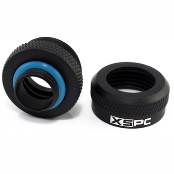 Product image of XSPC G1/4 14mm OD Matte Black Triple-Seal PETG Fitting  - Click for product page of XSPC G1/4 14mm OD Matte Black Triple-Seal PETG Fitting