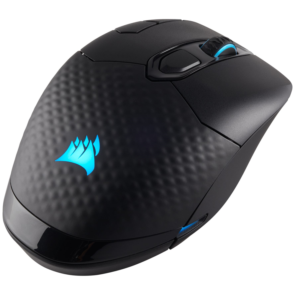 A large main feature product image of Corsair Gaming Dark Core RGB SE Wireless Optical Gaming Mouse