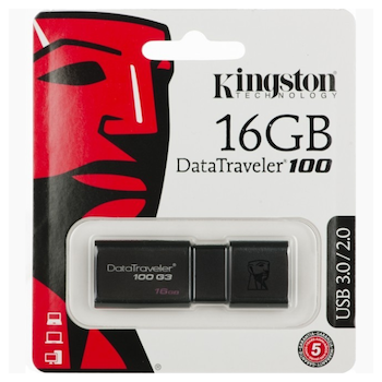 Product image of Kingston DataTraveler 100 G3 16GB USB 3.0 Flash Drive - Click for product page of Kingston DataTraveler 100 G3 16GB USB 3.0 Flash Drive