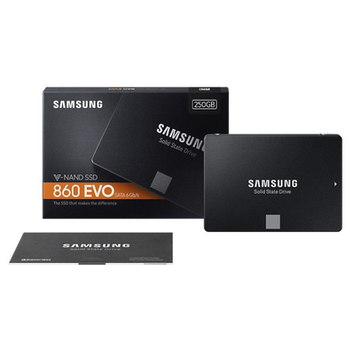 "Product image of Samsung 860 EVO Series 2.5"" 7mm 250GB SSD - Click for product page of Samsung 860 EVO Series 2.5"" 7mm 250GB SSD"