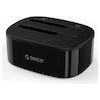 A product image of ORICO 2.5/3.5in USB3.0 1 to 1 Clone Dual-bay HDD and SSD Hard Drive Dock