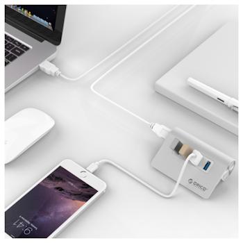Product image of ORICO Aluminium 4 Port USB3.0 Hub - Click for product page of ORICO Aluminium 4 Port USB3.0 Hub