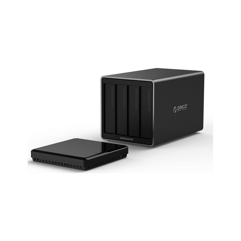A large main feature product image of ORICO 4 Bay USB3.0 Hard Drive Enclosure