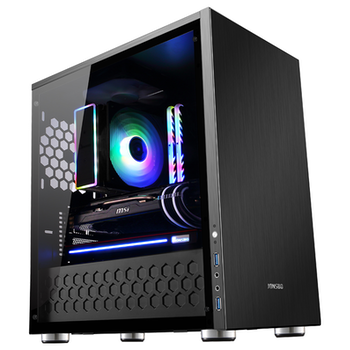 Product image of Jonsbo C3 Plus Black mATX Case w/Tempered Glass Side Panel - Click for product page of Jonsbo C3 Plus Black mATX Case w/Tempered Glass Side Panel