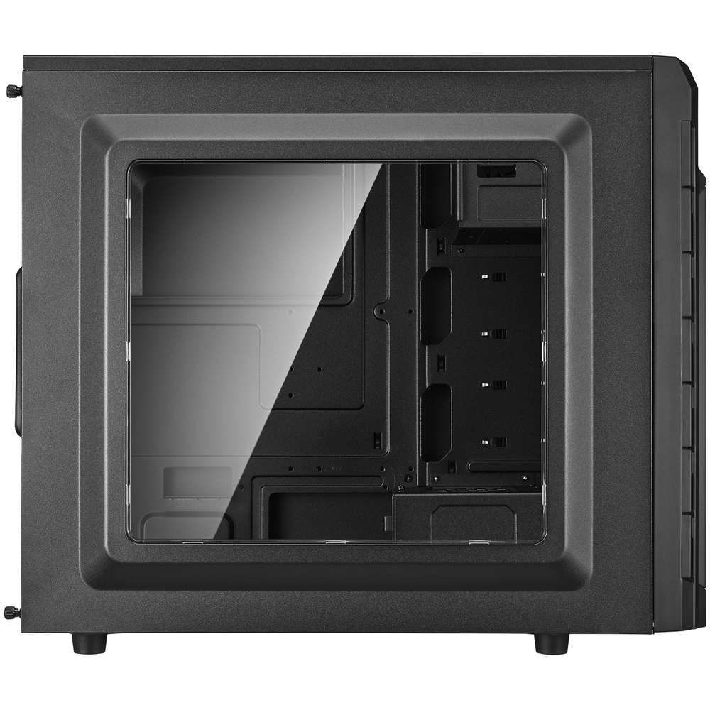 A large main feature product image of Cooler Master CMP501 Black Mid Tower Case w/Side Panel Window & 600W PSU