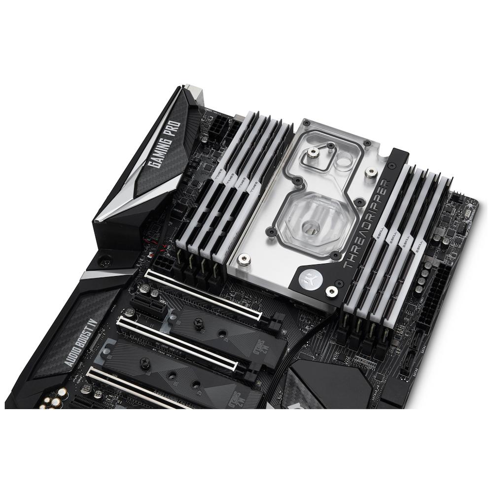 A large main feature product image of EK FB MSI X399 GAMING RGB Monoblock - Nickel