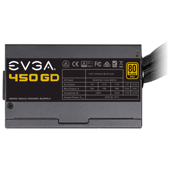 Product image of eVGA GD Series 450W 80PLUS Gold Power Supply - Click for product page of eVGA GD Series 450W 80PLUS Gold Power Supply