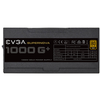 Product image of eVGA SuperNOVA G1+ 1000W Fully Modular 80PLUS Gold Power Supply - Click for product page of eVGA SuperNOVA G1+ 1000W Fully Modular 80PLUS Gold Power Supply