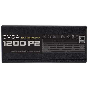 Product image of eVGA SuperNOVA P2 1200W 80PLUS Platinum Power Supply - Click for product page of eVGA SuperNOVA P2 1200W 80PLUS Platinum Power Supply
