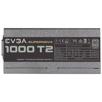 Product image of eVGA SuperNOVA T2 1000W 80PLUS Titanium Power Supply - Click for product page of eVGA SuperNOVA T2 1000W 80PLUS Titanium Power Supply