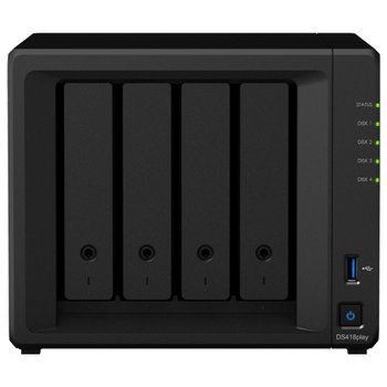 Product image of Synology D418play Celeron Dual-Core 2.GHz 2GB 4 Bay NAS Enclosure - Click for product page of Synology D418play Celeron Dual-Core 2.GHz 2GB 4 Bay NAS Enclosure
