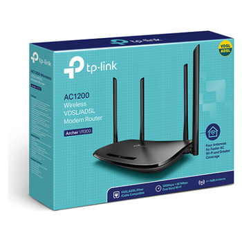 Product image of TP-LINK Archer VR300 AC1200 Wireless Dual Band VDSL/ADSL Modem Router  - Click for product page of TP-LINK Archer VR300 AC1200 Wireless Dual Band VDSL/ADSL Modem Router