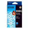 A product image of Epson DURABrite Ultra 252XL High Capacity Cyan Cartridge