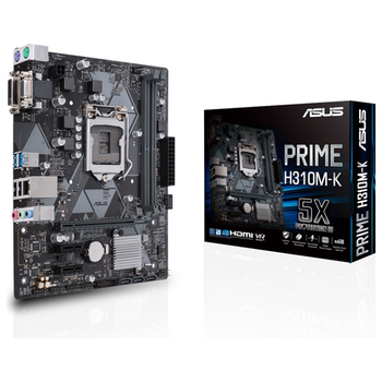 Product image of ASUS PRIME H310M-K LGA1151-CL mATX Desktop Motherboard - Click for product page of ASUS PRIME H310M-K LGA1151-CL mATX Desktop Motherboard