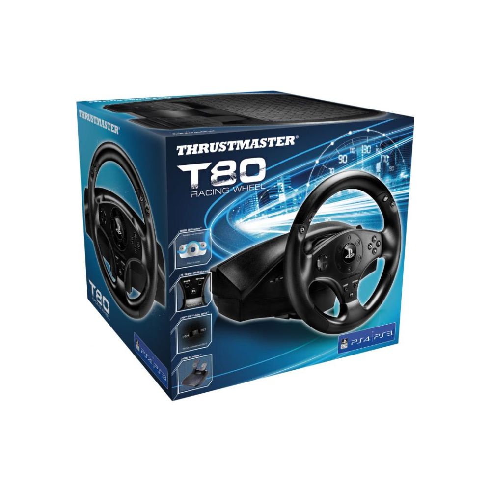 A large main feature product image of Thrustmaster T80 Racing Wheel For PS3 & PS4