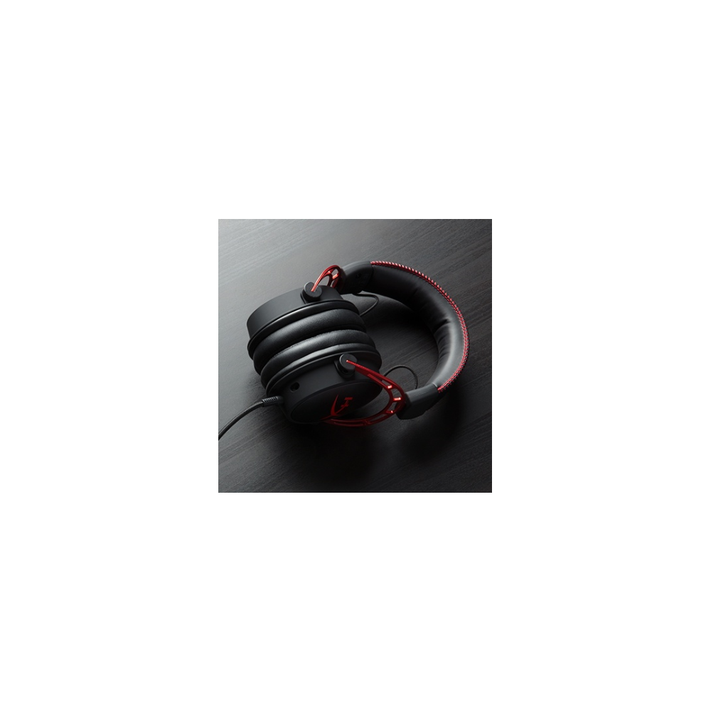 A large main feature product image of Kingston HyperX Cloud Alpha Pro Gaming Headset for PC, PS4 & Xbox One, Nintendo Switch