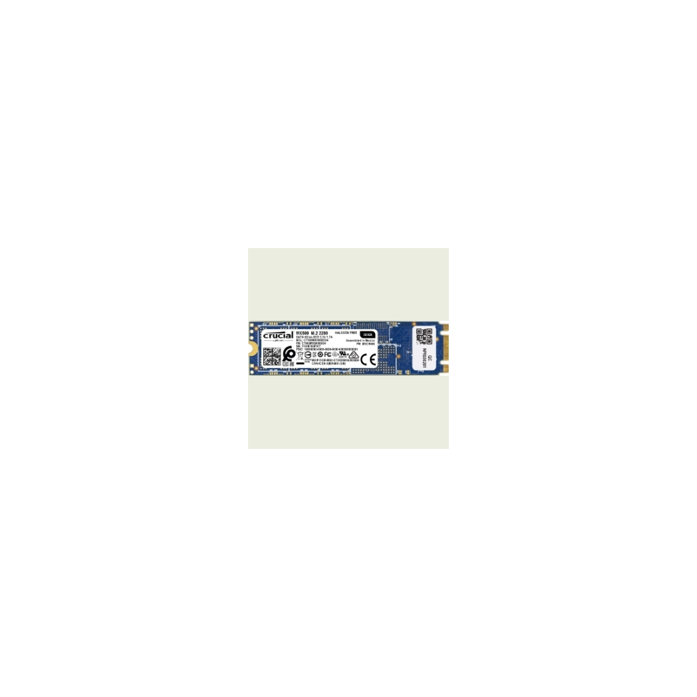 A large main feature product image of Crucial MX500 500GB M.2 2280 SSD
