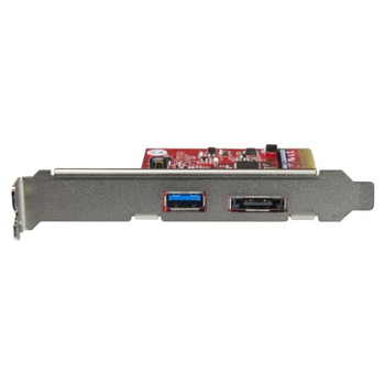 Product image of Startech 2 Port USB 3.1 (10Gbps) + eSATA PCIe Card, 1x USB-A 1x eSATA - Click for product page of Startech 2 Port USB 3.1 (10Gbps) + eSATA PCIe Card, 1x USB-A 1x eSATA