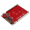 A product image of Startech M.2 to U.2 (SFF-8639) Adapter for M.2 PCIe NVMe SSDs