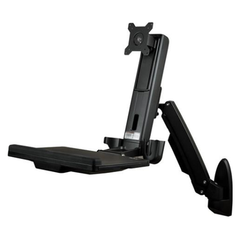 """Product image of Startech Wall Mounted Sit Stand Desk - for Single Monitor up to 24"""" - Click for product page of Startech Wall Mounted Sit Stand Desk - for Single Monitor up to 24"""""""