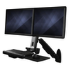A product image of Startech Wall Mounted Sit Stand Desk - For Two Monitors up to 24""