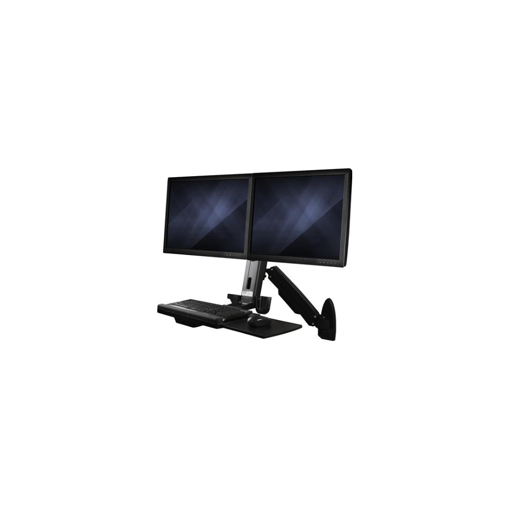 A large main feature product image of Startech Wall Mounted Sit Stand Desk - For Two Monitors up to 24""