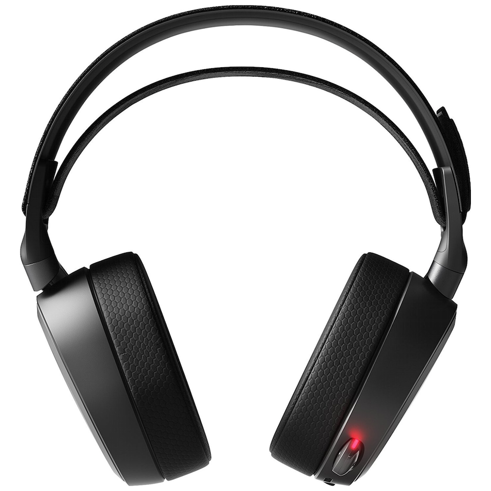 A large main feature product image of SteelSeries Arctis Pro Wireless Gaming Headset