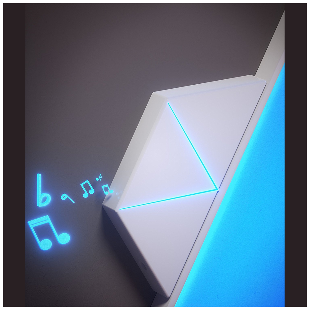 A large main feature product image of Nanoleaf Rhythm Module Add-On
