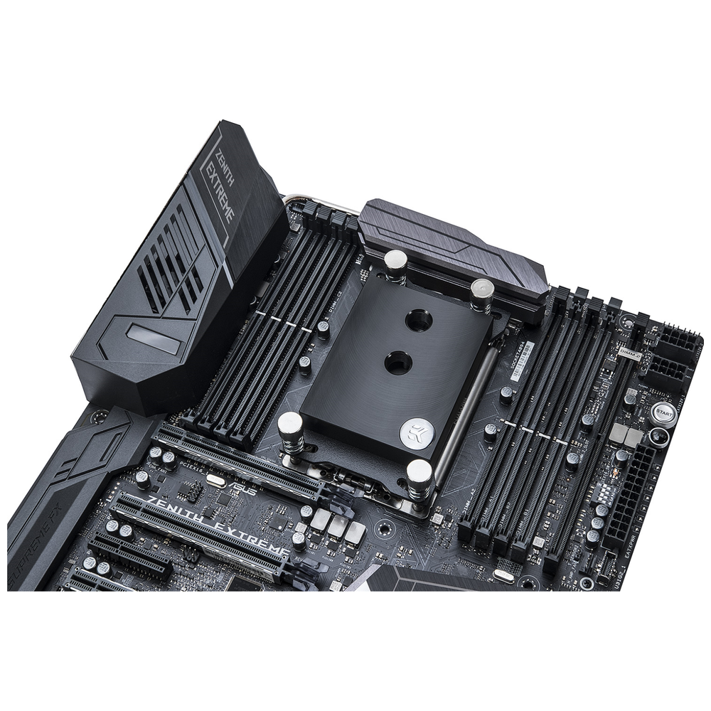 A large main feature product image of EK Supremacy sTR4 Nickel Acetal CPU Waterblock