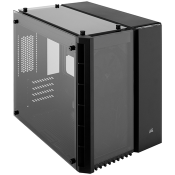 Product image of Corsair Crystal 280X Black mATX Case w/Tempered Glass Side Panel - Click for product page of Corsair Crystal 280X Black mATX Case w/Tempered Glass Side Panel