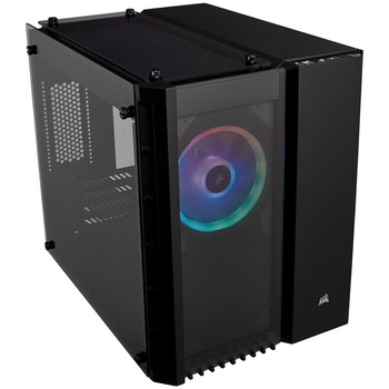 Product image of Corsair Crystal 280X RGB Black mATX Case w/Tempered Glass Side Panel - Click for product page of Corsair Crystal 280X RGB Black mATX Case w/Tempered Glass Side Panel