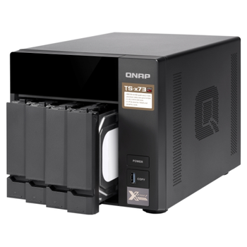 Product image of QNAP TS-473 3.4Ghz 4GB 4 Bay NAS Enclosure - Click for product page of QNAP TS-473 3.4Ghz 4GB 4 Bay NAS Enclosure