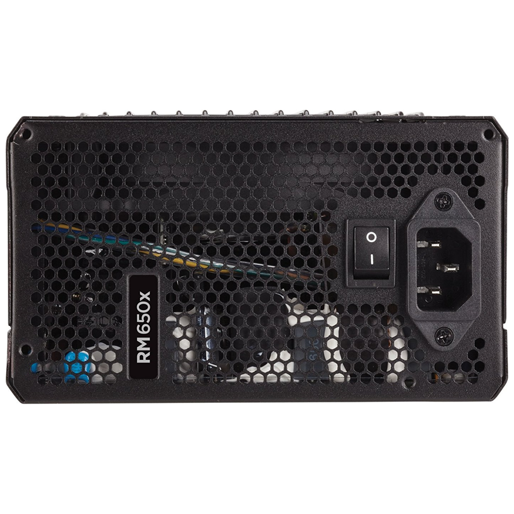 A large main feature product image of Corsair RM650x V2 650W 80PLUS Gold Modular Power Supply