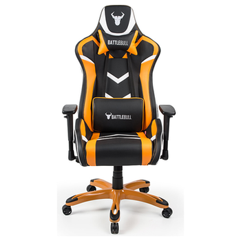 Product image of BattleBull Commander Gaming Chair Black/Orange/White - Click for product page of BattleBull Commander Gaming Chair Black/Orange/White