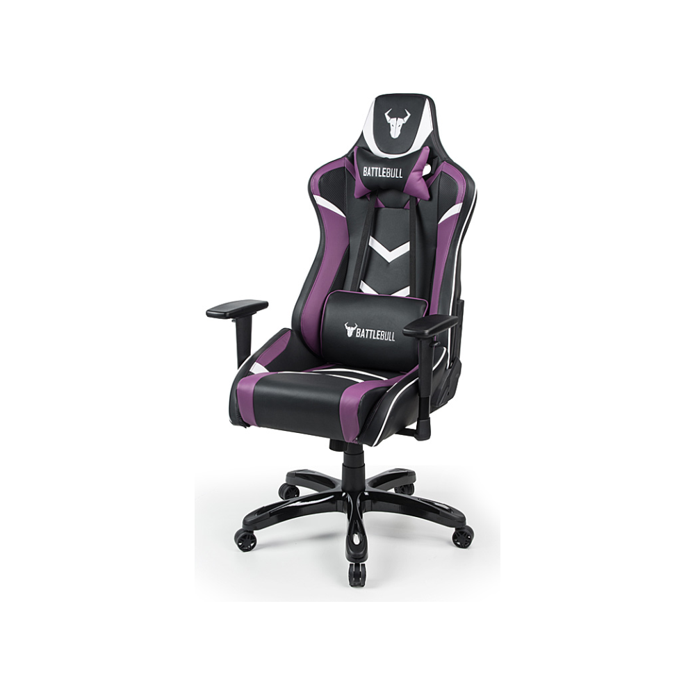 A large main feature product image of BattleBull Commander Gaming Chair Black/Purple/White