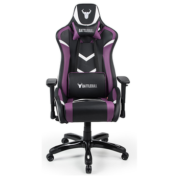Product image of BattleBull Commander Gaming Chair Black/Purple/White - Click for product page of BattleBull Commander Gaming Chair Black/Purple/White