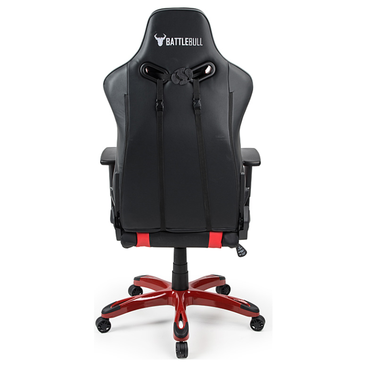 Battlebull Commander Gaming Chair Black Red Grey Bb