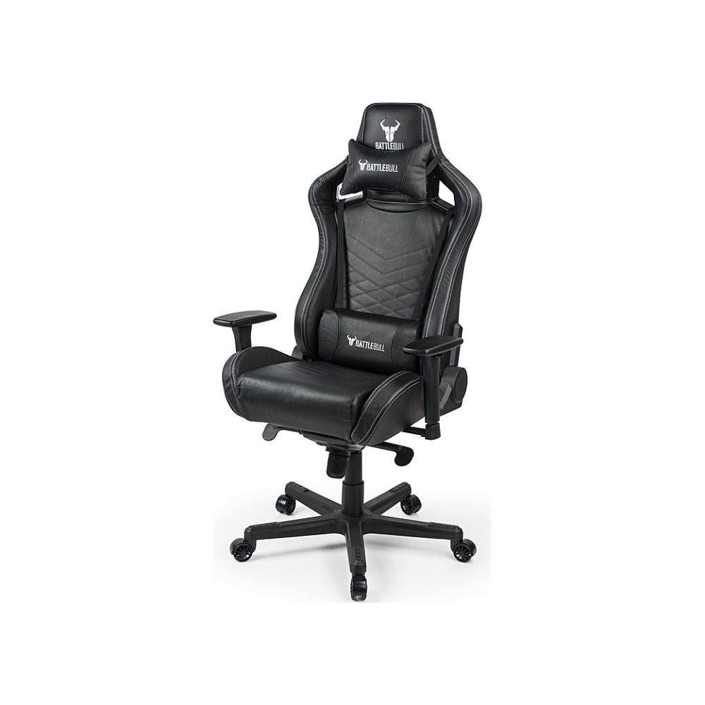 A large main feature product image of BattleBull Rider Gaming Chair Black Leather