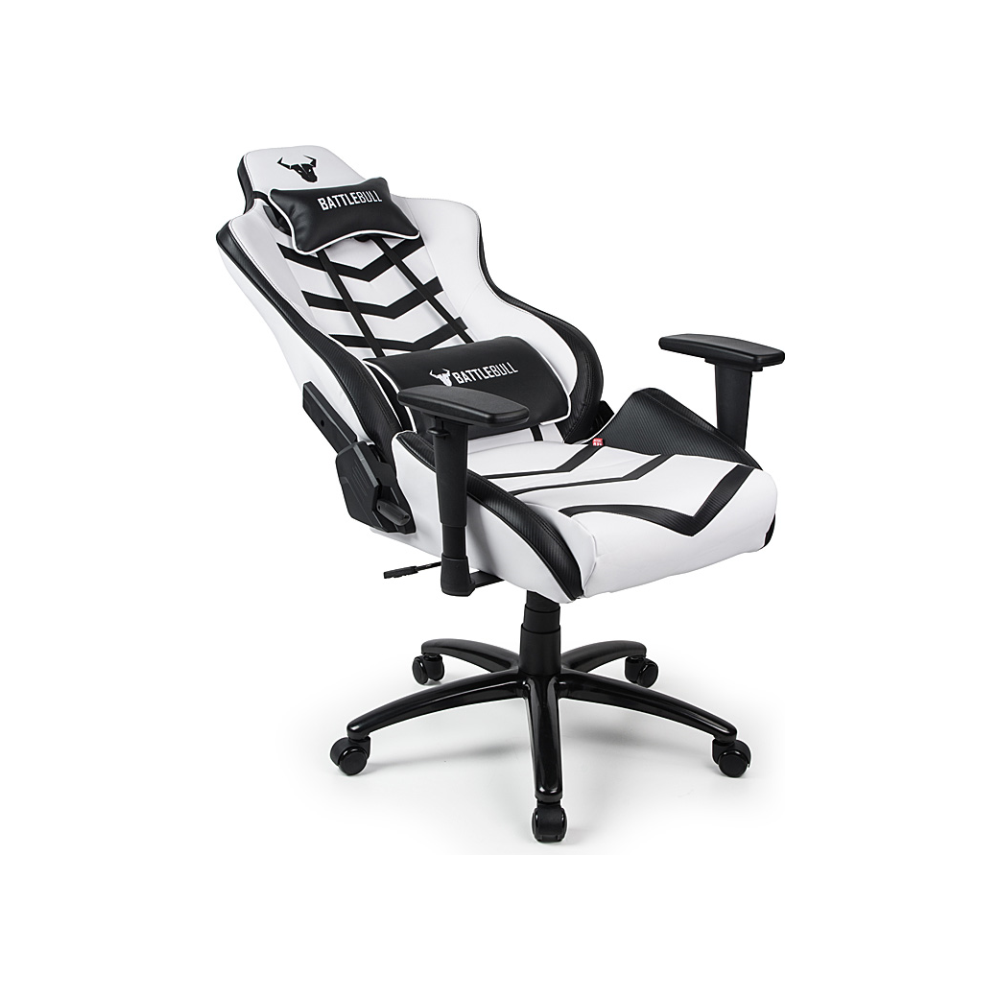 A large main feature product image of BattleBull Diversion Gaming Chair White/Black