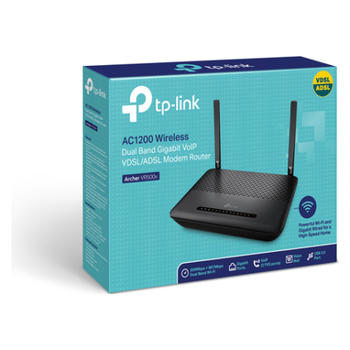 Product image of TP-Link Archer VR500v AC1200 Wireless Dual Band Gigabit VoIP VDSL/ADSL Modem Router - Click for product page of TP-Link Archer VR500v AC1200 Wireless Dual Band Gigabit VoIP VDSL/ADSL Modem Router