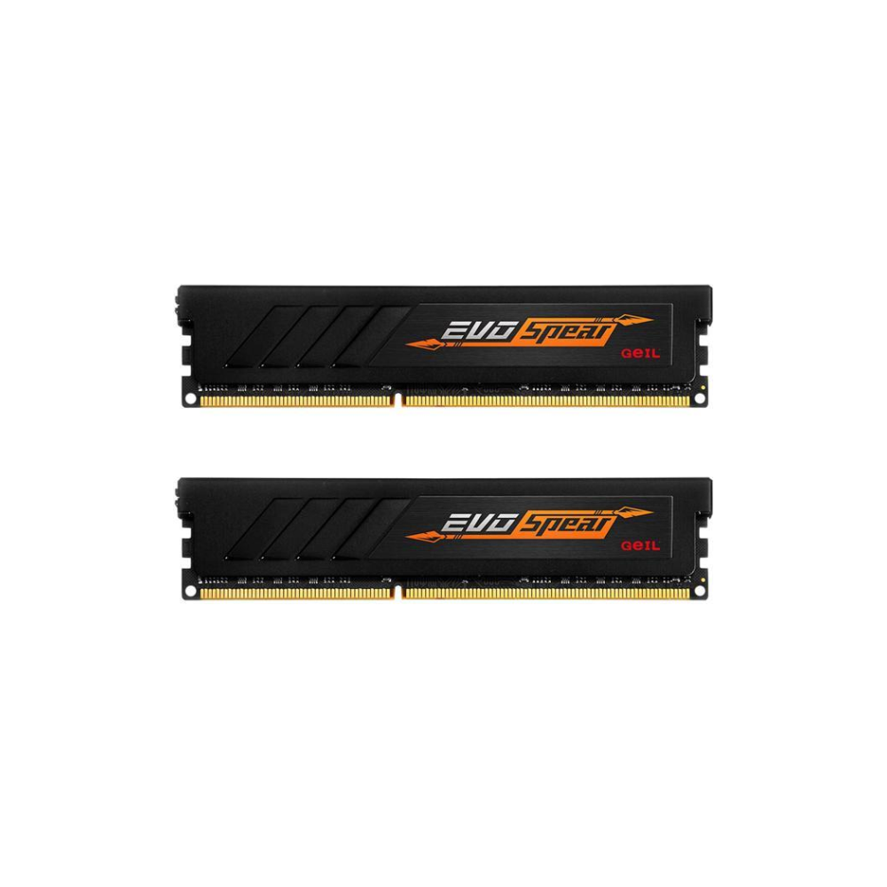 A large main feature product image of GeIL 16GB Kit (2x8GB) DDR4 EVO SPEAR C16 2400MHz